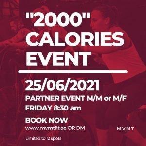 2000 calories event